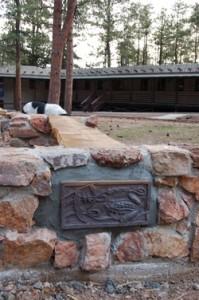 fire circle benches mountain park environmental center